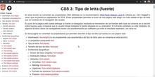 CSS Fuentes