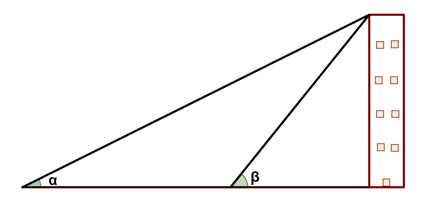 Altura de un edificio por Trigonometria