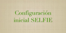 Configuración inicial SELFIE EU