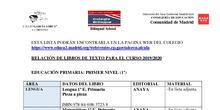 libros de E.P. curso 2020/2021