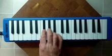 Improvisación con mélodica - Difícil - Blues de las teclas negras