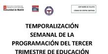 TEMPORALIZACIÓN 3ER TRIMESTRE