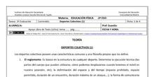 Ficha Deportes Colectivos 1 para 2º ESO