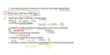 ejercicio mecanismo reacción química