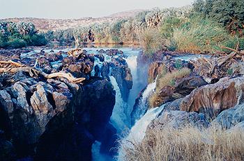 Atardecer en Cataratas de Epupa, Namibia