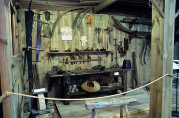 Banco de trabajo de carpintería de ribera, Museo Marítimo de Ast