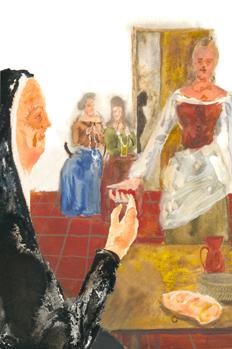 Melibea ofrece un cordón a Celestina