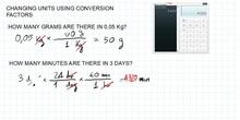 Simple Conversion factors
