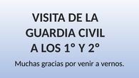 VISITA GUARDIA CIVIL. CEIP PINOCHO 2017/18