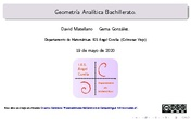 Geometría Analítica Bachillerato