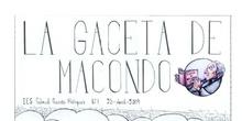 La Gaceta de Macondo, 1 (IES Gabriel García Márquez, Madrid)