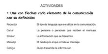 Ejercicios Elementos de la Comunicación
