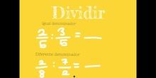 PRIMARIA - 6º - MULTIPLICAR Y DIVIDIR FRACCIONES - MATEMÁTICAS