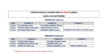 Convocatoria alumnos libres B2 inglés