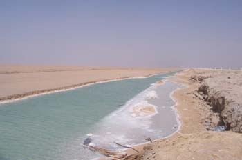 Lago salado de Chott el Jerid, Túnez