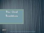 Oral tradition literature