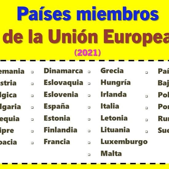 Países miembros de la Unión Europea en 2021