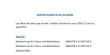 Libros de alemán curso 2020
