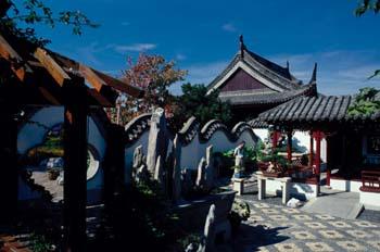 Chinese Garden del Jardín Botánico de Montreal, Quebec, Canadá