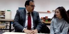 Alcalde de Leganés (v. ancha) en #cervanbot III (contenido grabado por alumnos)