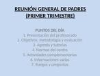 Reunión general de padres (Primer trimestre)
