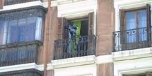Cámara de TV en un balcón con motivo de la Boda Real