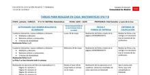 TABLAS SEMANALES 18-22 mayo