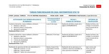 TABLAS SEMANALES 25-29 MAYO