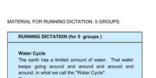 Running Dictation for the water cycle