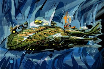 Veinte mil leguas de viaje submarino: El Nautilus aprisionado po