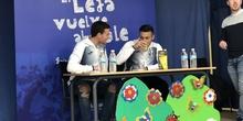 Jugadores del CD Leganés visitan el cole 2