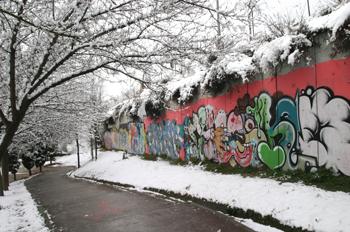Grafitti nevado, Comunidad de Madrid