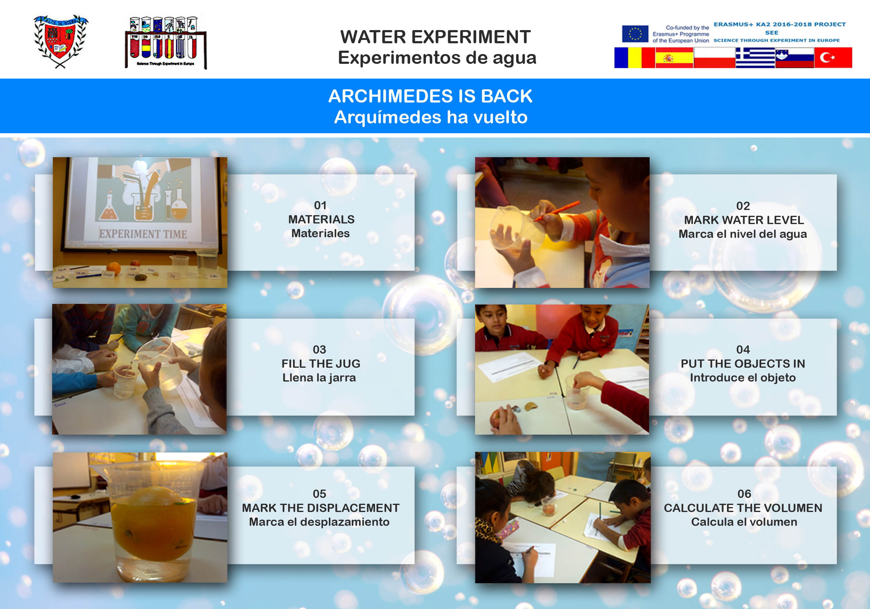 Water experiment 01 Archimedes is back