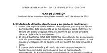 Plan de difusión del proyecto ERASMUS+
