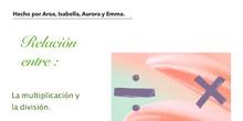 PRIMARIA 6ºB - MATEMÁTICAS - LA RELACIÓN ENTRE MULTIPLICACIÓN Y DIVISIÓN