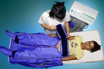 Presoterapia: colocación de complemento en extremidades inferior