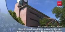 """González reclama un modelo de financiación """"justo"""" con Madrid en el Debate de la Región"""