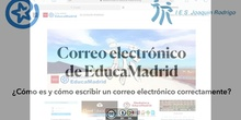 Correo electrónico de EducaMadrid