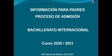 Vídeo informativo sobre la admsión de alumnos en Bachillerato Internacional en el IES Ramiro de Maeztu