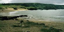 Playa de Verdicio en el Cabo de Peñas, Gozón, Principado de Astu