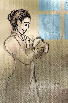 Jacinta y el bebe