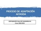 PROCESO DE ADAPTACIÓN CURSO 2020-2021