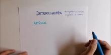 LOS DETERMINANTES (I): ARTÍCULOS Y DEMOSTRATIVOS