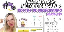 RESTAS DESAGRUPADAS hasta 100 | Matemáticas | MÉTODO SINGAPUR