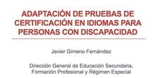 Adaptación de pruebas de certificación en idiomas en las EOI de la Comunida de Madrid