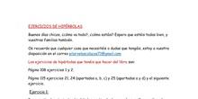 4ºBCD Ejercicios propuestos de hipérbolas