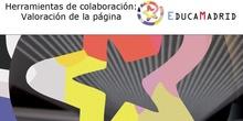 Herramientas de colaboración: Valoración de la página
