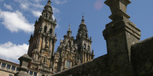 Fachada del Obradoiro, Santiago de Compostela, La Coruña, Galici