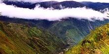 Vista del valle de Baliem desde una de las cimas, Irian Jaya, In