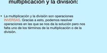 PRIMARIA-6º-RELACIÓN ENTRE LA MULTIPLICACIÓN Y LA DIVISIÓN -LENGUA-ERIN Y PAZ - FORMACIÓN